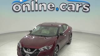 C97916TR Used 2017 Nissan Maxima 3.5 SV FWD 4D Sedan Red Test Drive, Review, For Sale