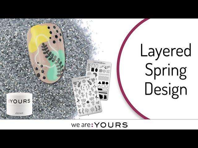 LAYERED SPRING STAMPING NAIL ART DESIGN