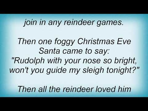 Ray Charles  Rudolph The Red Nosed Reindeer Lyrics