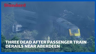 Train derails killing three and injuring several people
