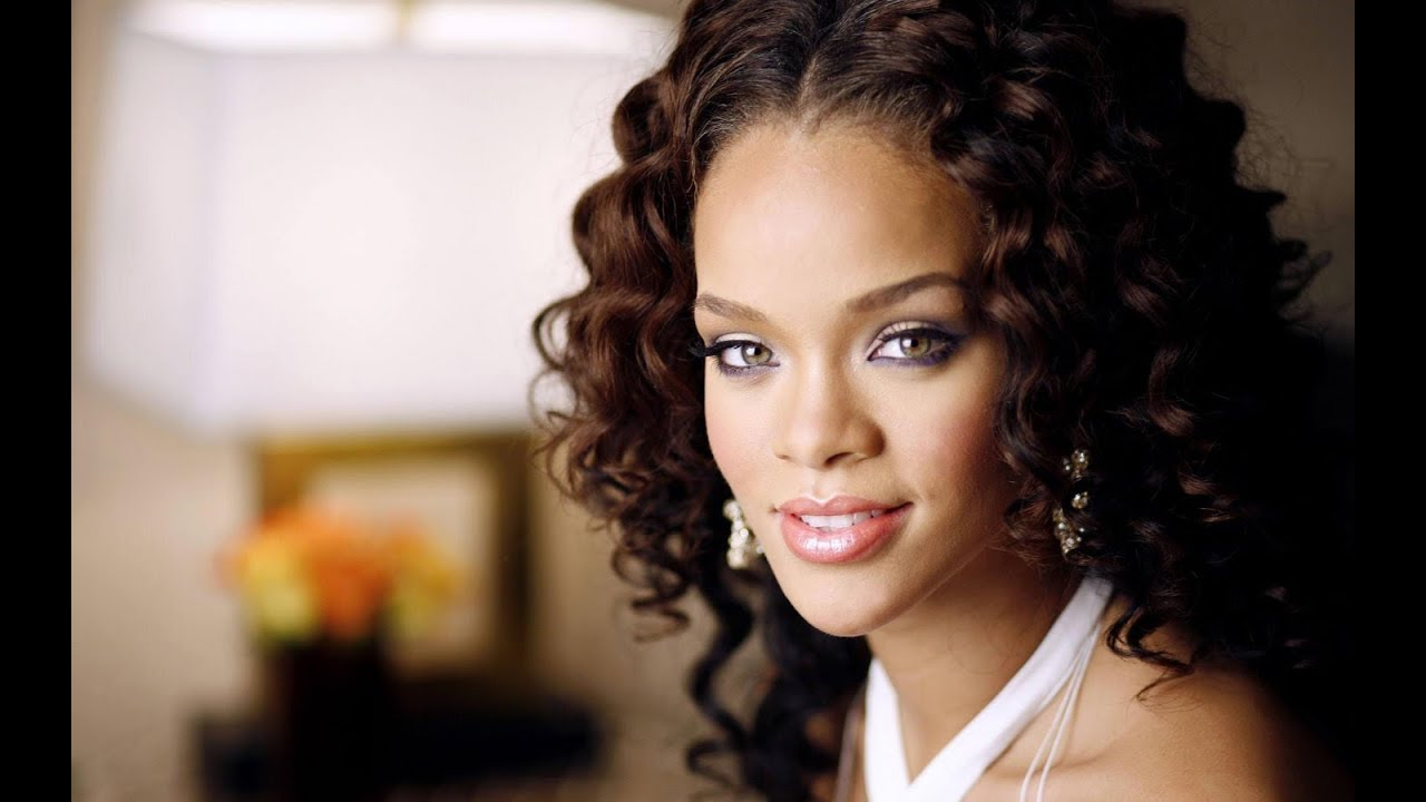 rihanna curly hairstyles - youtube
