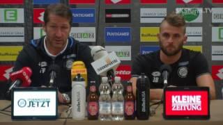 SK Sturm: Mediabriefing vor SKN St. Pölten (ÖFB Cup Achtelfinale, 2016/17)