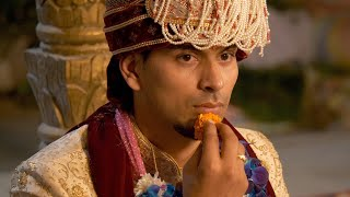Stock footage of Indian groom in his wedding attire