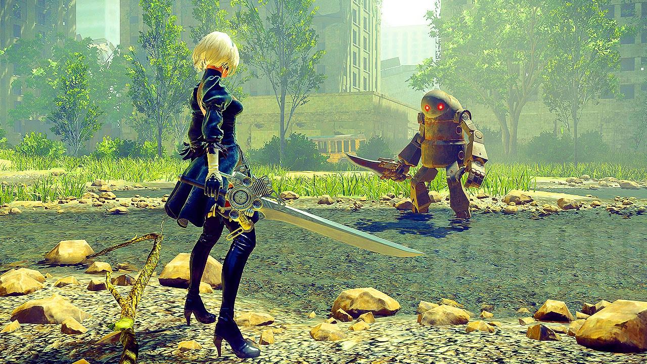 NieR: Automata - Open World Gameplay @ 1080p (60ᶠᵖˢ) HD ...