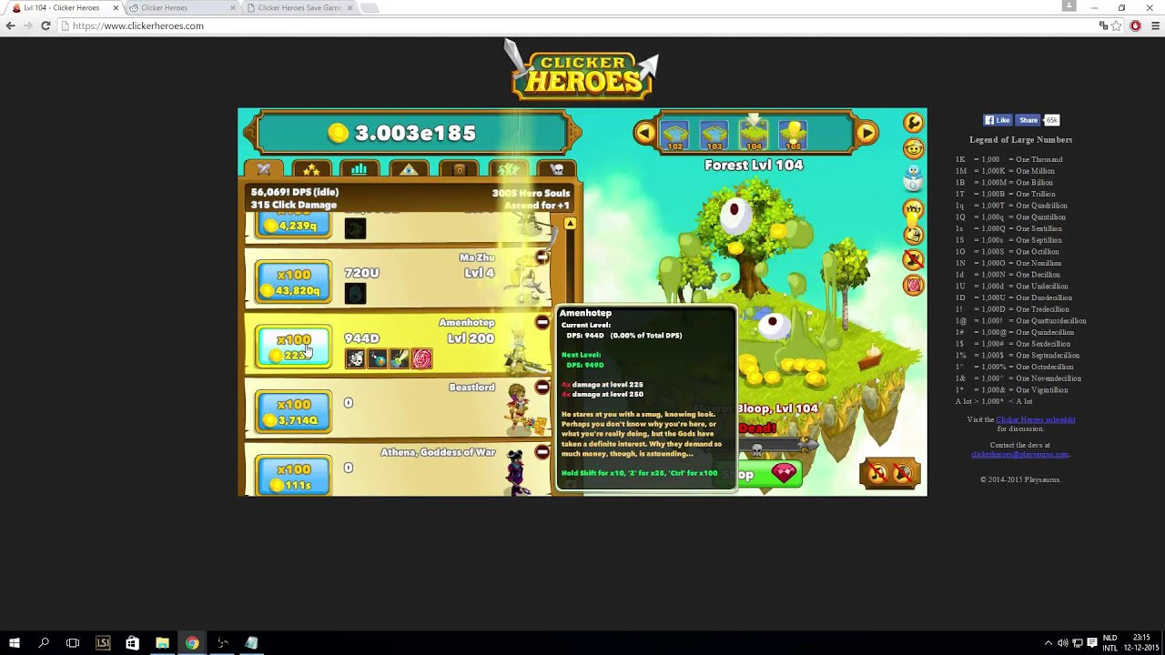 Clicker heroes LEVEL 10 000!?!!!!!!!!!!!!!!!!!!