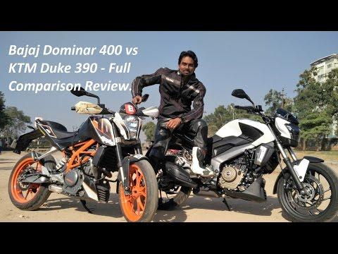 Bajaj Dominar 400 vs KTM Duke 390 - Full Comparison Review.