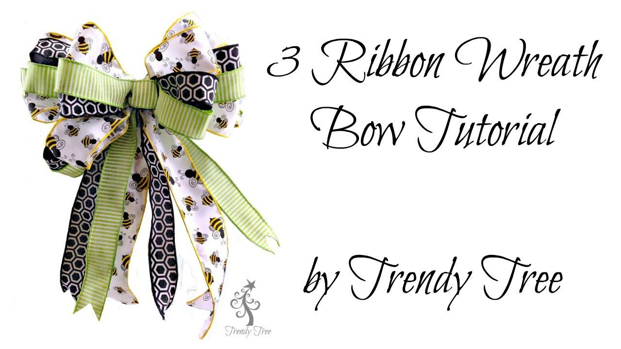 Make a Three Ribbon Bow by Trendy Tree - YouTube