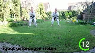 Chang-Hun - Tabata 3 - Taekwon-Do oefeningen