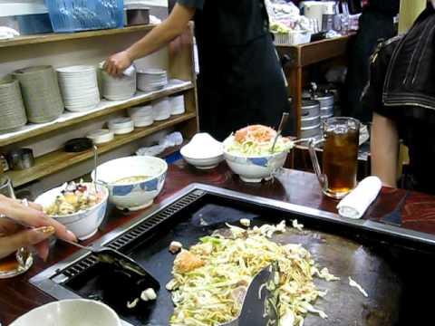 Eating at the famous Iroha Restaurant in Tsukishima, Chuo-ku