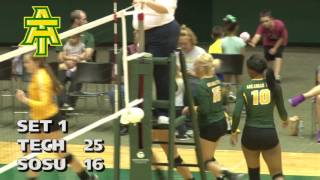Tech Volleyball vs. Southeastern Oklahoma Highlights - 10/7/16