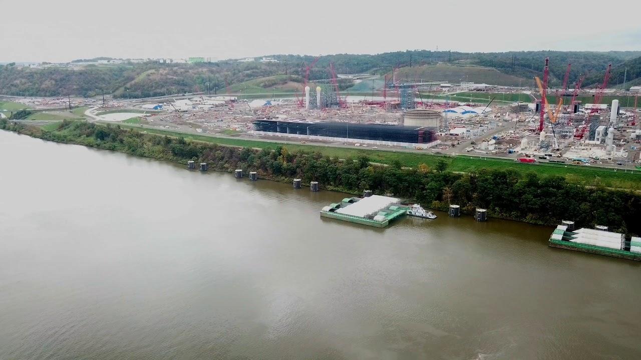 The Beaver County, Pennsylvania Shell Cracker Plant under construction