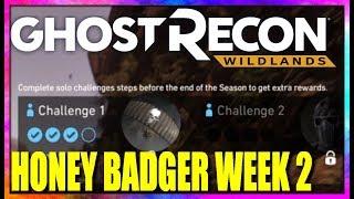 Ghost Recon Wildlands HONEY BADGER CHALLEGE WEEK 2 Guide pt 1