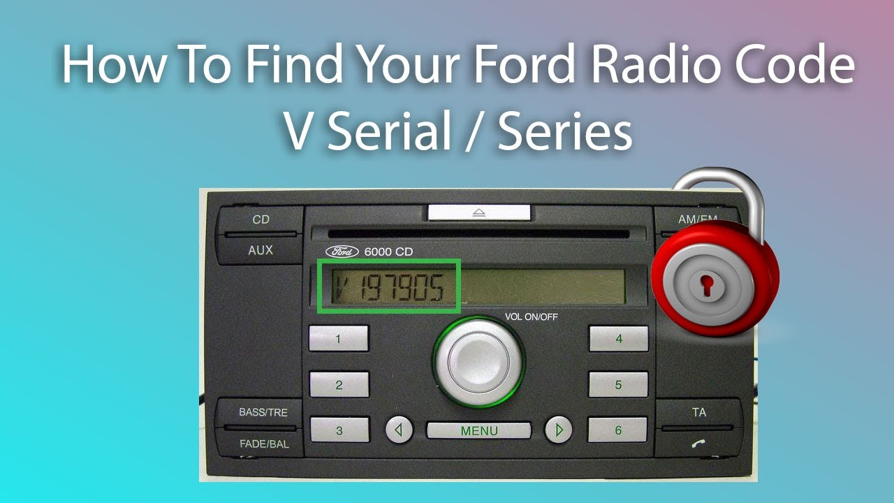 how to find your ford radio code v series unlock radio code youtube. Black Bedroom Furniture Sets. Home Design Ideas