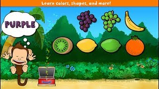 Learn Colors, Learn Names Fruits and Vegetables Colors for Kids - Monkey Preschool Lunchbox