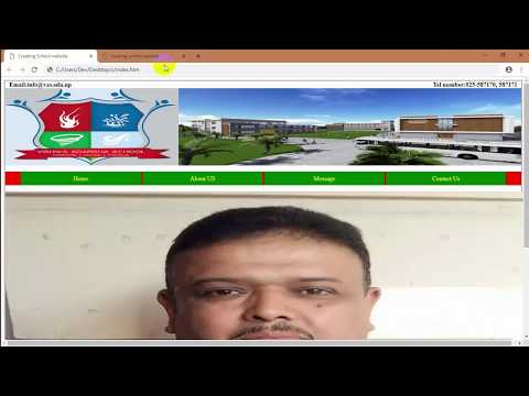 [PART 2] Creating Vishwa Adarsha School Website Using HTMLand CSS