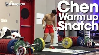 Chen Lijun (62kg, China) Warm Up Snatch 2015 World Weightlifting Championships