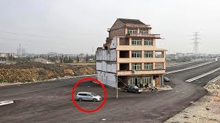 In Cina costruiscono un'autostrada intorno a questa casa.Il proprietario non vuole andarsene!