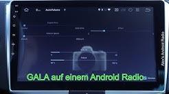 Android Radio GALA SDVC Geschwindigkeitsabhängige Lautstärkeanpassung