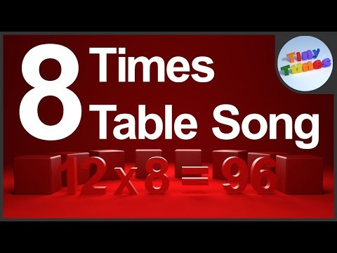 8 Times Table Song For Kids | Tiny Tunes