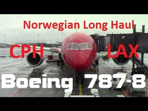 Boeing 787 Dreamliner Copenhagen-Los Angeles Norwegian Air Shuttle
