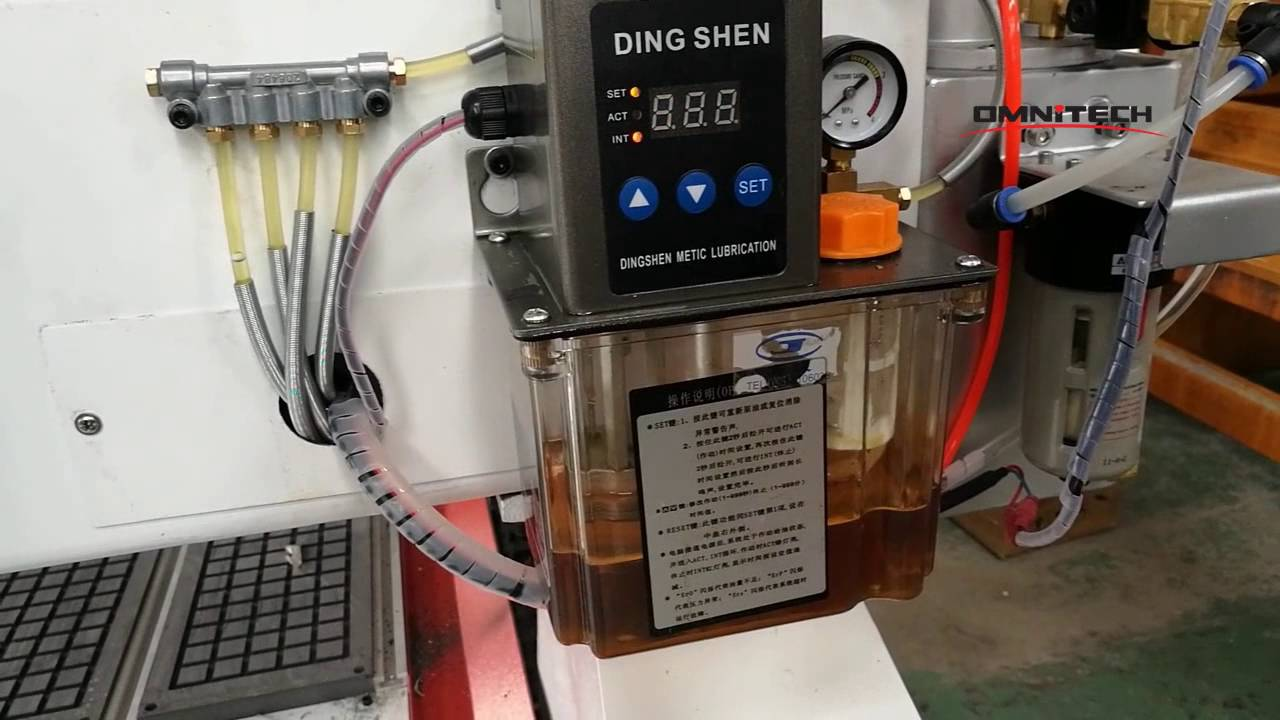 How To Set China Cnc Router Auto Lubrication Pump Time