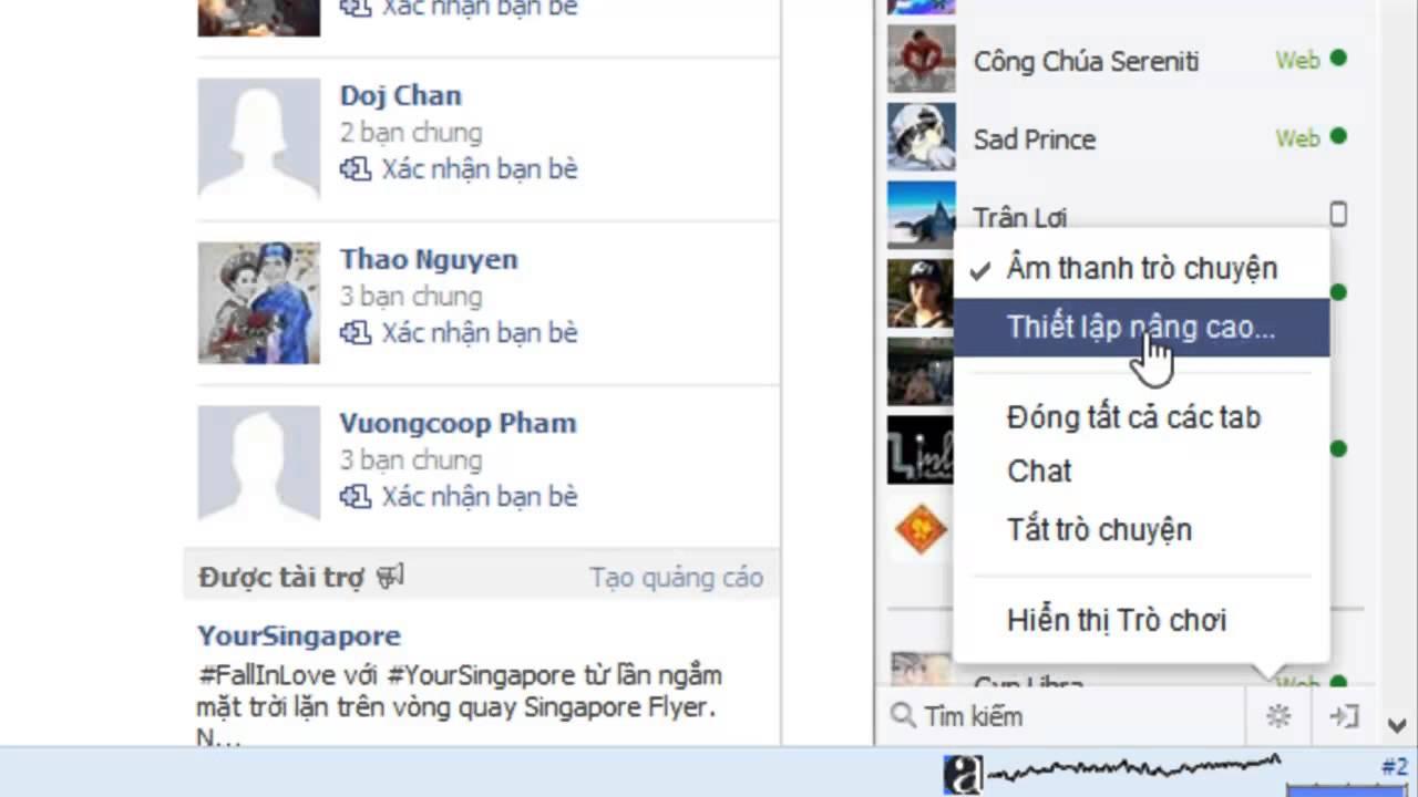 Cách ẩn nick facebook mà vẫn online