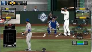 MLB 14 : The Show Vita - Rangers VS Rays on 5 Apr 2014