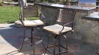 Gambar cover Tahoe Outdoor Swivel Barstools