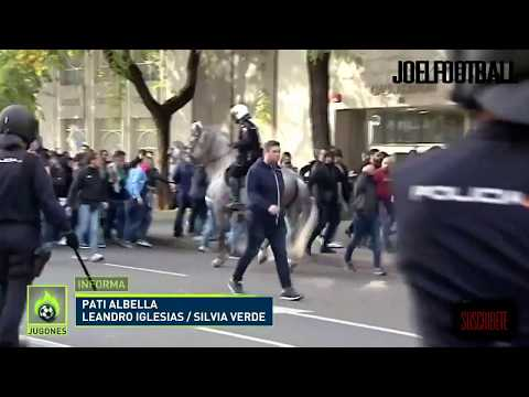 Brutal pelea entre ultras de Lazio y Sevilla