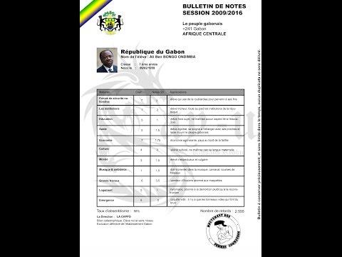 Bulletin de notes d'Ali Bongo présenté par le mouvement des femmes commandos