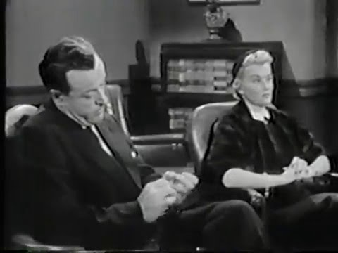 """THE MILLIONAIRE: """"The Uncle Robby Story"""" Season 1, Episode 19. 5-25-1955."""