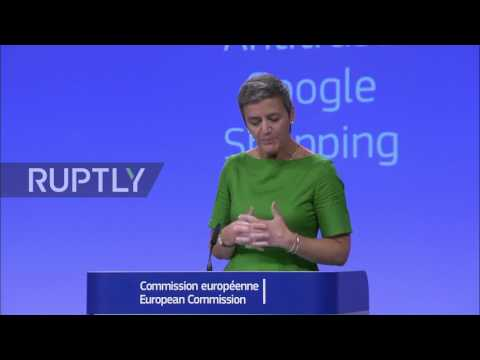Belgium: Google fined €2.4 bn by EU for manipulating shopping results