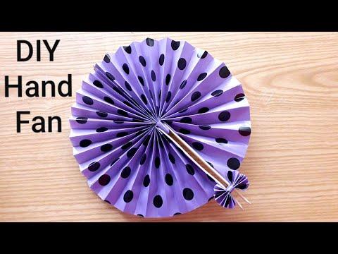 How to make hand fan easily | DIY- Hand fan making idea