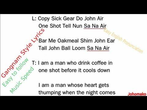 Gangnam Style Lyrics in English - Psy, Gangnam Style ...