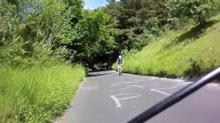 Cycling on the Boxhill Surrey up the Zig Zag Road for the first t