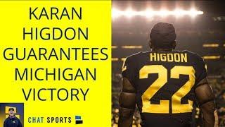 Karan Higdon Guarantees Win Over Ohio State - Michigan Football 2018