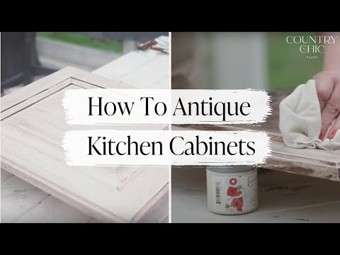 How To Give Your Kitchen Cabinets An Antique Look Glazing With Country Chic Paint