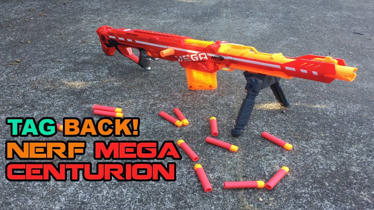TAG BACK - Nerf MEGA Centurion (WHY DID IT NOT COME WITH A SCOPE?) | Walcom  S7
