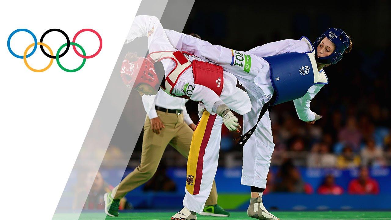 35aae73e13255 Defending champion Jones wins women's -57kg Taekwondo gold - YouTube