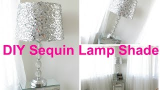DIY Sequin Lamp Shade