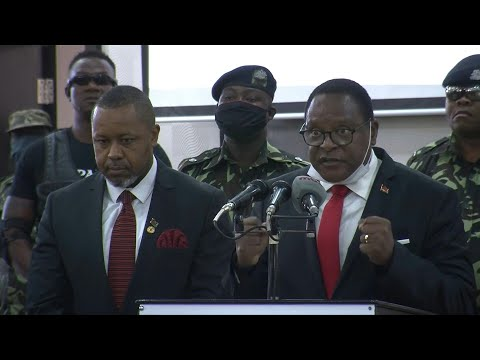 Malawi opposition party leader presents candidature for elec