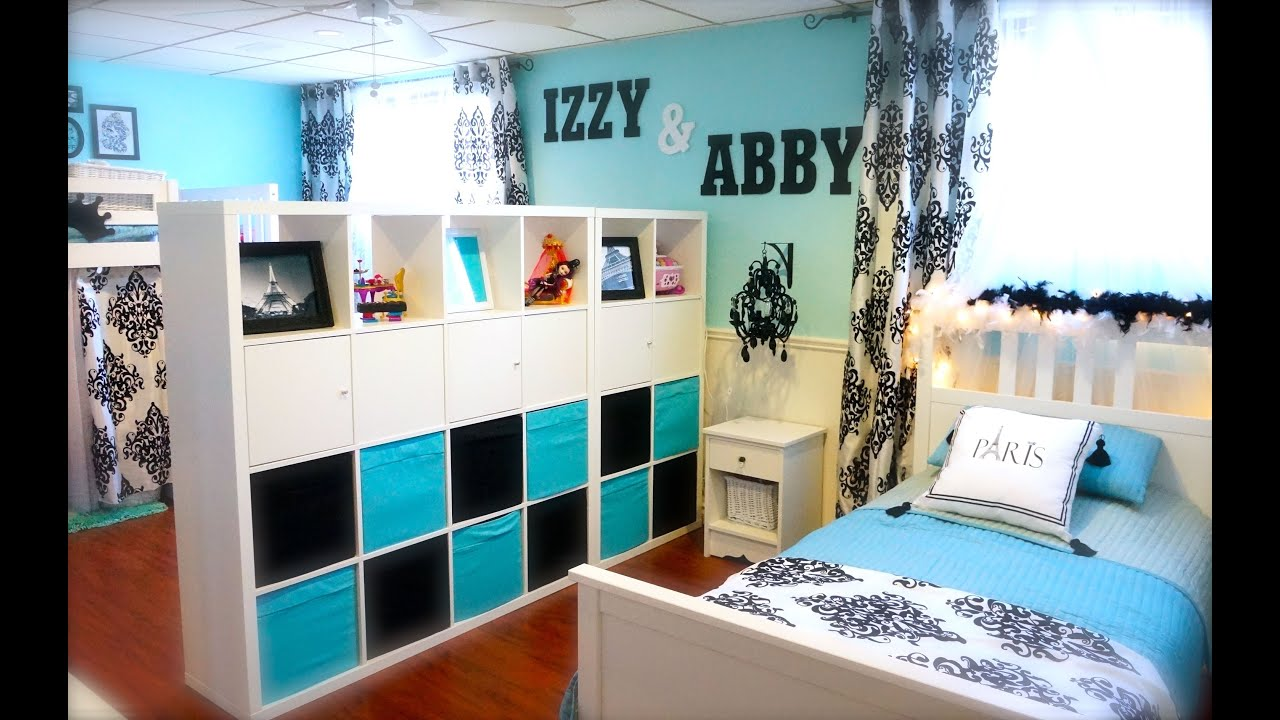 Decorating Tips- Decorating My Girls Shared Room on a Budget - YouTube