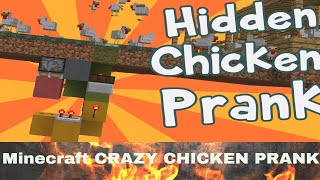 Minecraft : CRAZY CHICKEN PRANK l [SUPER BOUNCING, SILLY DIRT & TRAPS!'