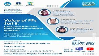 """Download lagu 🔴(LIVE) Voice of PPs UT Seri-8: """"Penelitian Pendidikan Dasar di Masa Pandemi"""