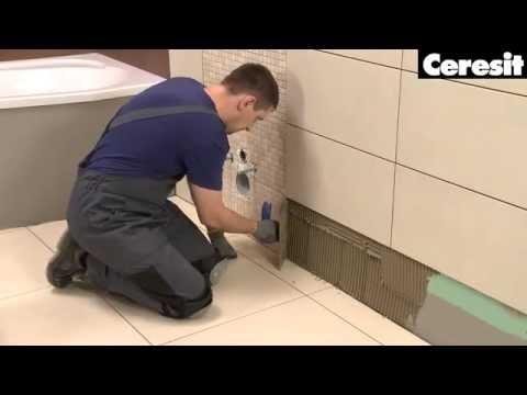 Как правильно положить плитку в ванной на стену видео