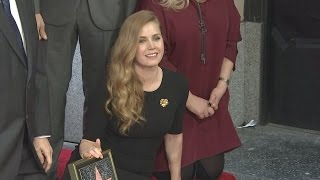 Amy Adams in disbelief as she receives star on Hollywood Walk of Fame