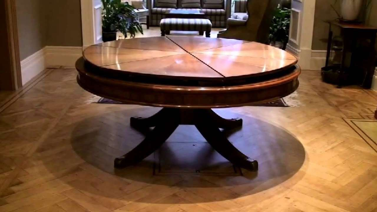 expandable round dining table Expandable Round Dining Table Modern Design   YouTube expandable round dining table