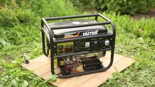 видео Huter DY6500L портативный бензиновый электрогенератор