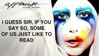 Repeat youtube video Lady Gaga   Applause Lyric Video