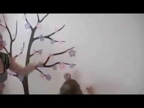 Besta Ağaç Ve Hayvanlar Duvar Sticker Youtube